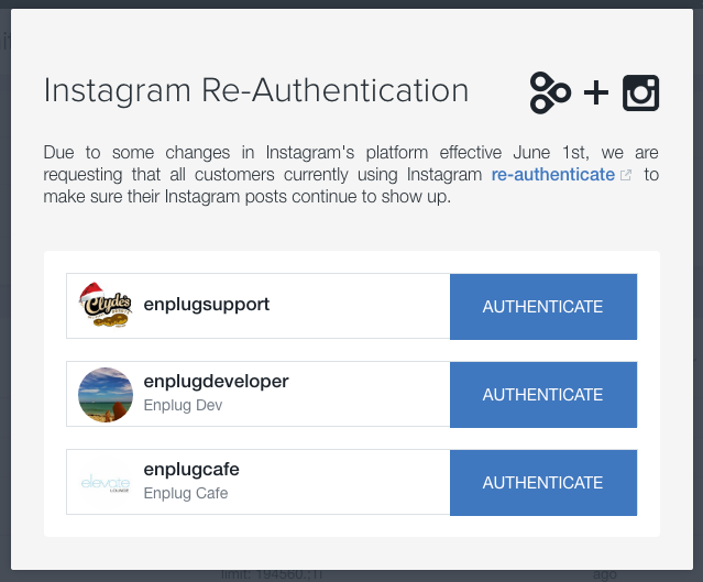 After You Click Authenticate Will Be Prompted To Log Into Instagram